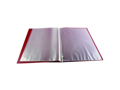 DISPLAY BOOK 40 POCKETS BD40-RED