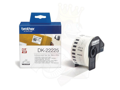 BROTHER WHITE CONTINUOUS PAPER TAPE 38MM X 30.48M
