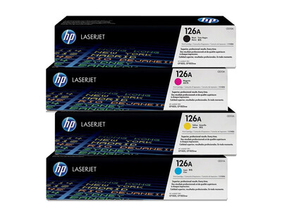 HP CE310A ORIGINAL TONER SET OF 4 126A