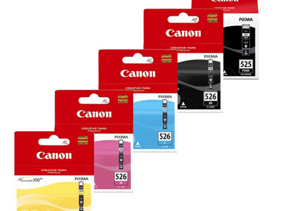 CANON CLI526/PGI525 ORIGINAL SET OF 5 INKS