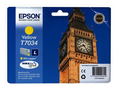 EPSON T703440 ORIGINAL YELLOW INK LARGE