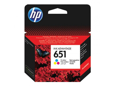 HP 651 ORIGINAL COLOUR INK