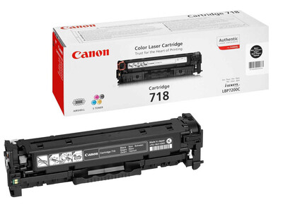 CANON 718 ORIGINAL TONER BLACK
