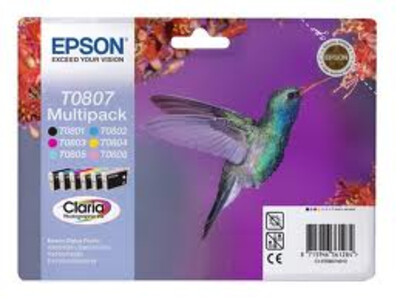 EPSON T0807 ORIGINAL MULTIPACK 6 INK