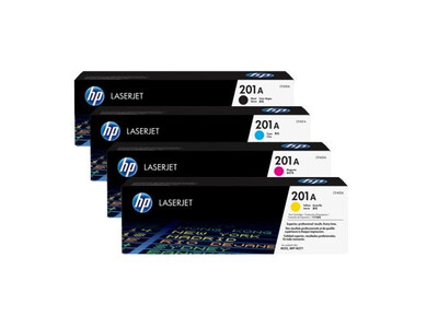 HP CF400A ORIGINAL TONER SET OF 4 201A