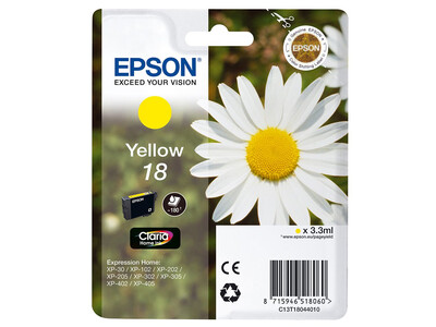 EPSON T18XL ORIGINAL YELLOW INK