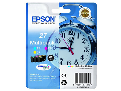 EPSON T27 LY T2705 ORIGINAL C/M/Y MULTIP