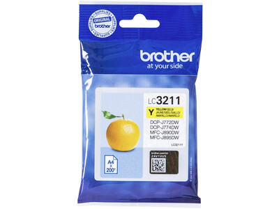 BROTHER LC3211 ORIGINAL YELLOW INK