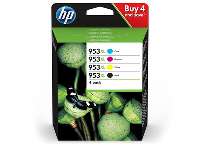 HP 953XL ORIGINAL MULTIPACK OF 4 INKS