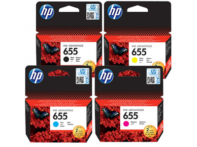HP 655 ORIGINAL INKS SET OF 4