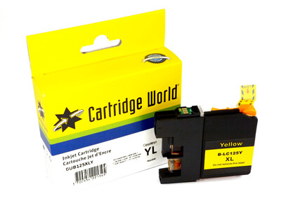 BROTHER LC125 XL REPLACEMENT YELLOW INK
