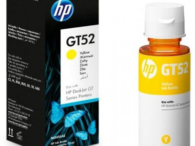 HP GT52 ORIGINAL YELLOW INK BOTTLE