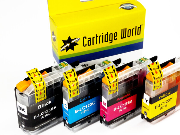 BROTHER LC123 REPLACEMENT SET OF 4 INKS