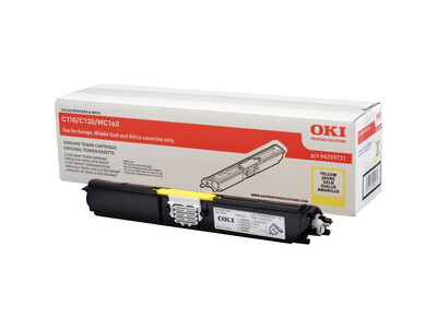 OKI C110/C130/MC160 ORIGINAL YELLOW TONER