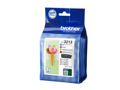 BROTHER LC3213 ORIGINAL BLACK MULTIPACK