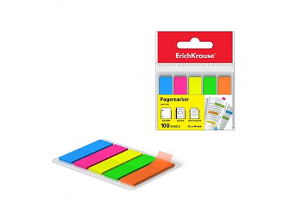 ERICHKRAUSE PAGE MARKER NOTES NEON 12X44MM 100sheets-5colours