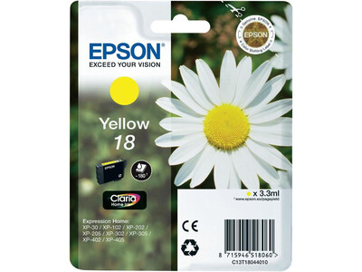 EPSON T1804 / T18 LY ORIGINAL YELLOW INK