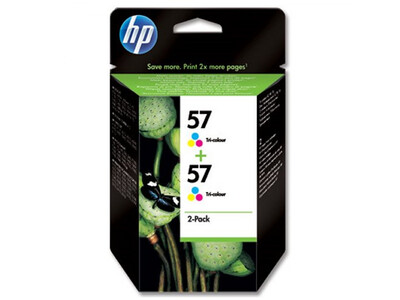 HP 57 ORIGINAL COLOUR INK TWIN PACK