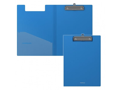ERICHKRAUSE CLIPBOARD WITH COVER CLASSIC A4 BLUE