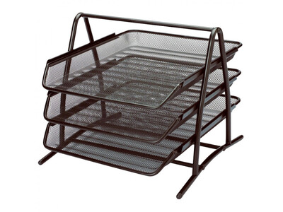 METALIC 3-TIERED TRAY BLACK