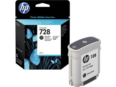 HP 728 ORIGINAL MATTE BLACK  INK 69ml