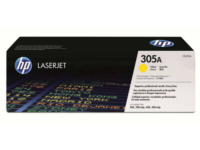 HP CE412A ORIGINAL TONER YELLOW 305A *2600 Pages