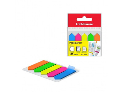 ERICHKRAUSE PAGE MARKER ARROWS NEON 12x44 mm 100 sheets/5 colors