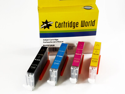 CANON CLI571 XL CW REPLACEMENT SET OF 5 INKS