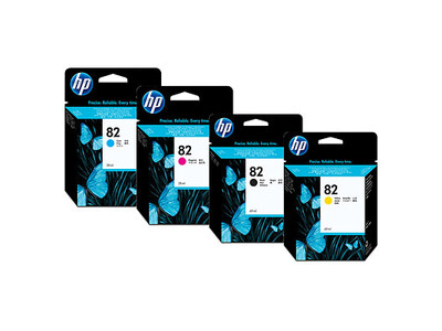 HP 82 ORIGINAL SET OF 4 INKS