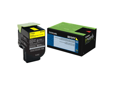 LEXMARK 80C2Y0 ORIGINAL YELLOW TONER