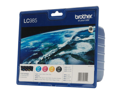 BROTHER LC985 ORIGINAL Multipack 4 INKS
