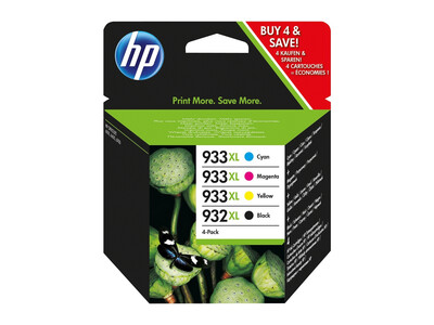 HP 932/933 XL ORIGINAL MULTIPACK OF 4 INKS