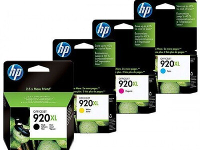 HP 920 XL ORIGINAL SET OF 4 INKS