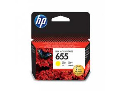 HP 655 ORIGINAL YELLOW INK