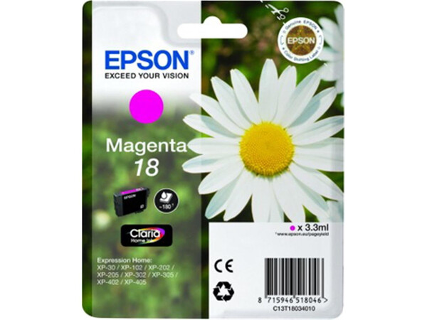 EPSON T18XL ORIGINAL MAGENTA INK