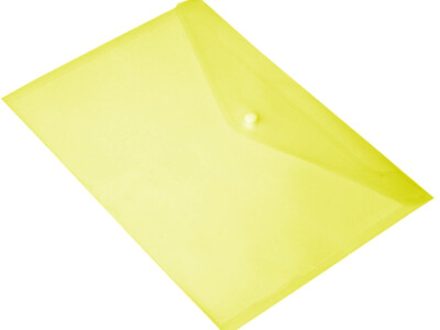 PVC A4 BAG WITH BUTTON YELLOW