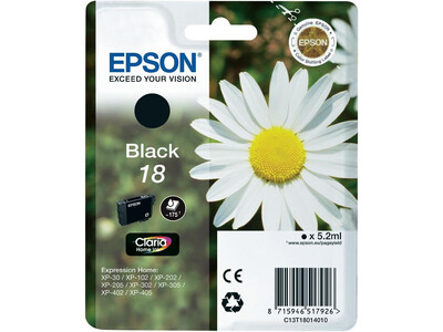 EPSON T1801 / T18 LY ORIGINAL BLACK INK